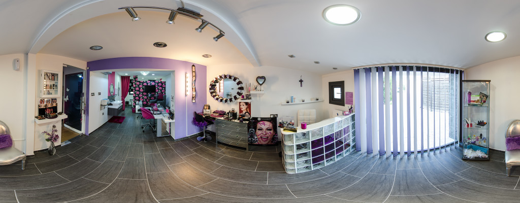 Google street view web development for A creative touch beauty salon